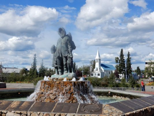 Monument in Fairbanks