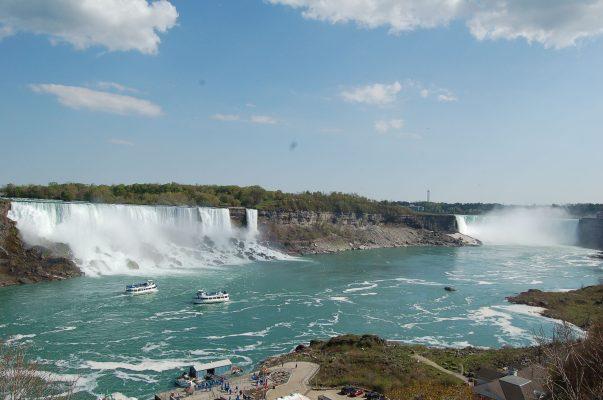 American Falls (links) und kanadische Horseshoe Fälle
