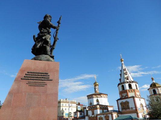 Kosaken Stadtgründerdenkmal in Irkutsk