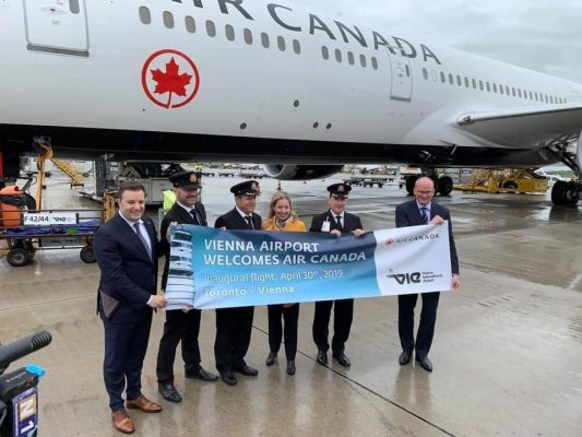 Air Canada Inaugural Flight